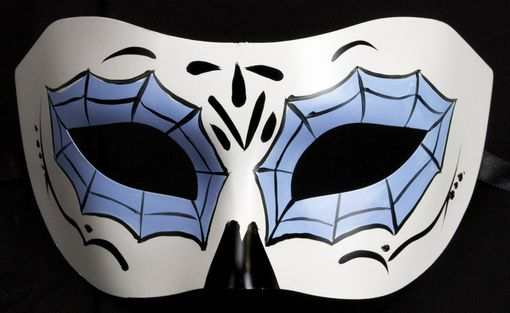 Spider Web Eye Mask Blue