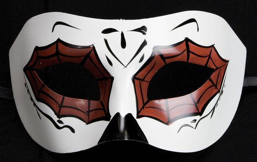 Spider Web Eye Mask Red