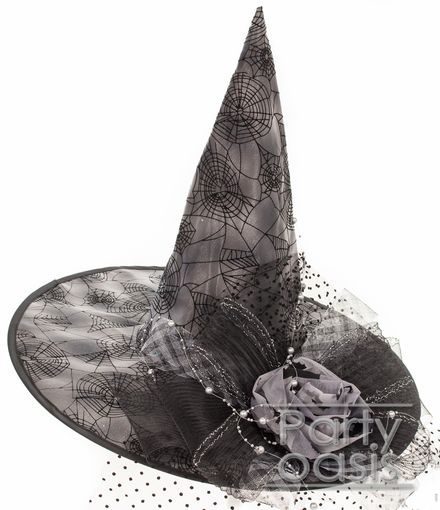 Spider Web Witch Hat Gray