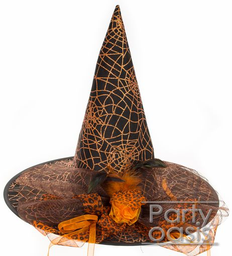 Spider Wed Witch Hat Orange