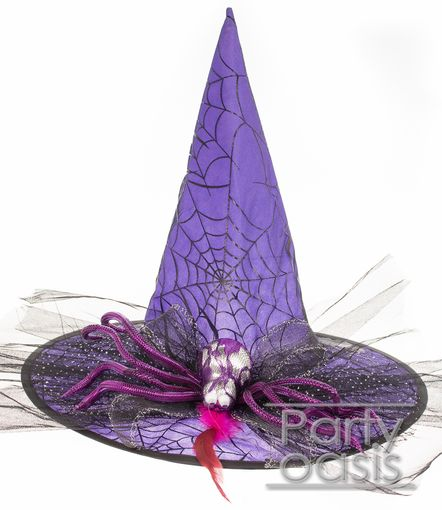 Spider Witch Hat Purple
