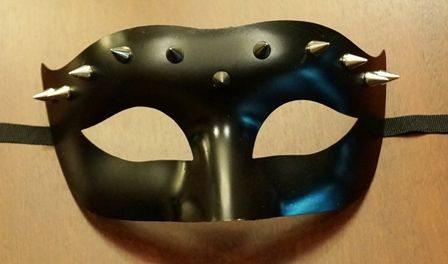 Spiked Eye Mask Black