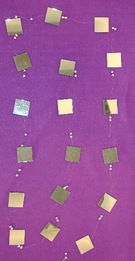 Square Mirror Garland  Strand with Bead 9 ft.