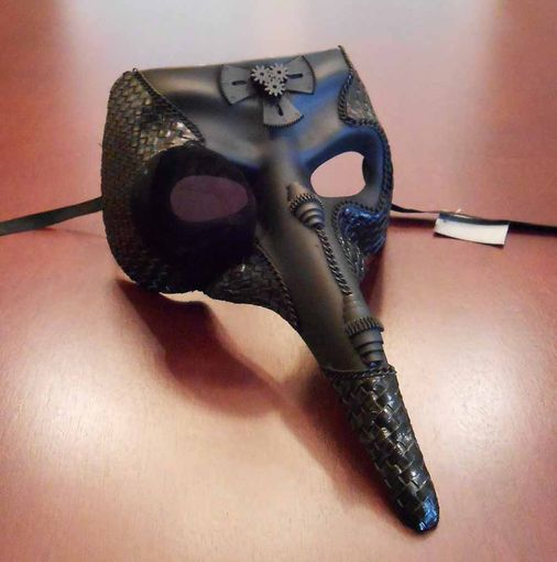 Steam Punk Bird Mask Black
