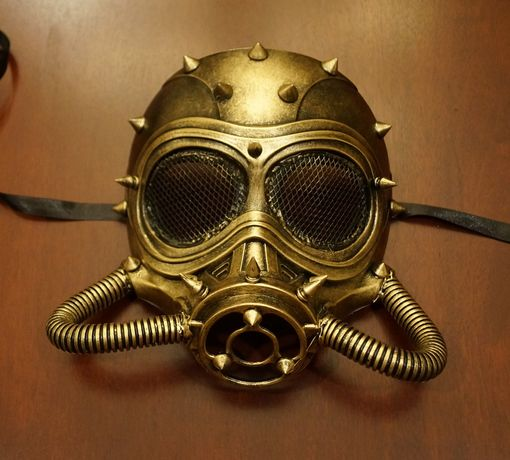 Steam Punk Chem Mask Gold