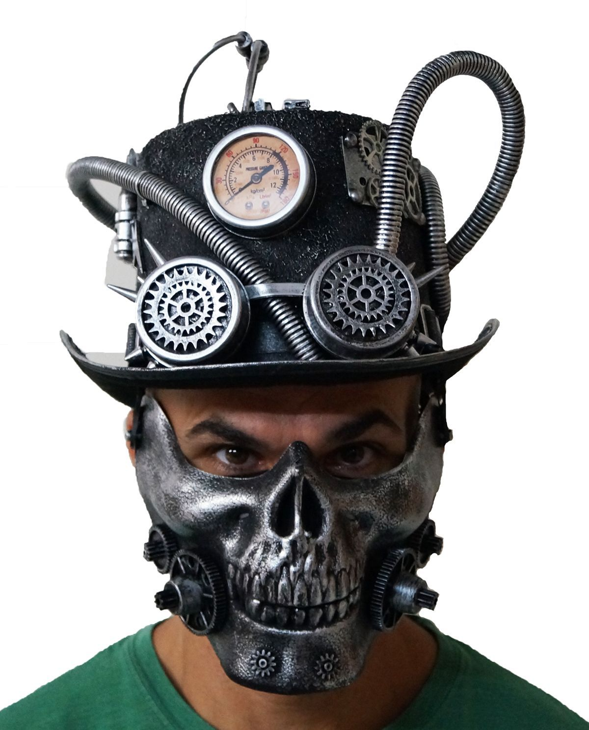 Steampunk Skull And Hat Burning Man Cyborg Halloween Costume