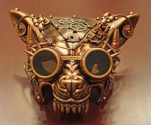 Steampunk Wolf Mask Copper