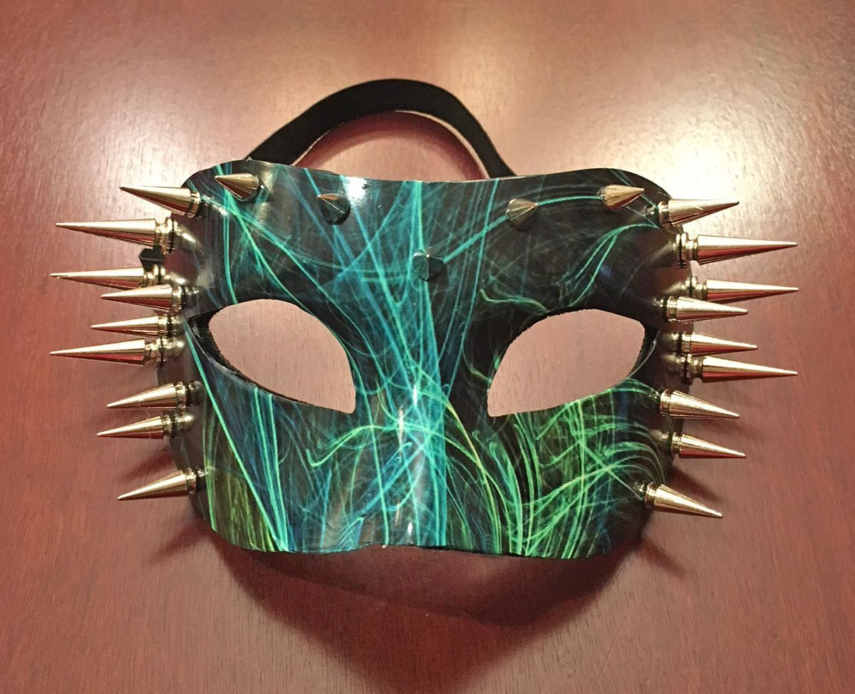 Super Nova Spiked Eye Mask With High Gloss Graphics Costume Mask
