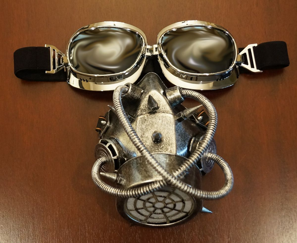 Supreme Aviator Goggles And Gas Mask