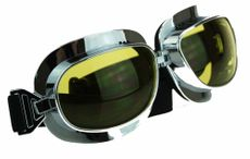Supreme Aviator Pilot Goggles for Cruiser Chopper Motorcycle Yellow Tint