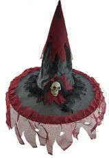 Tattered Red Witch Hat Halloween Witch Hat