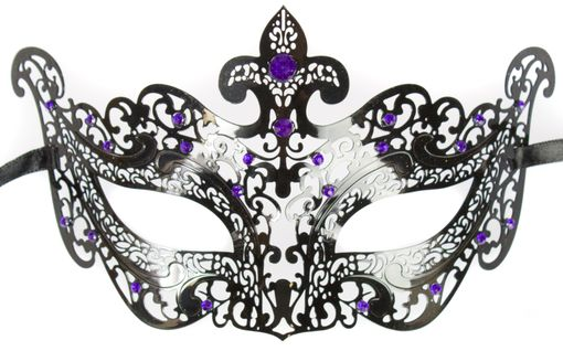 Terrafina Metal Masquerade Mask With Jewels