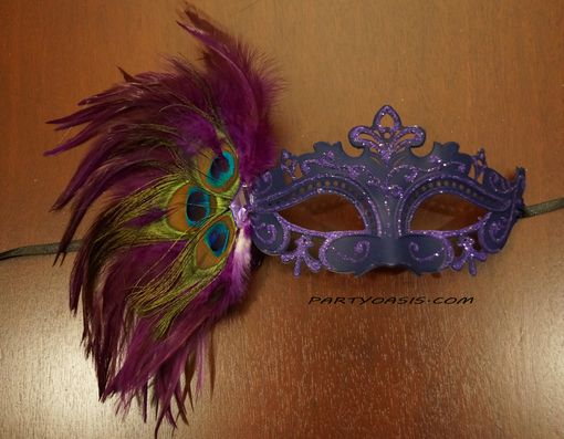 Tiffany Masquerade Mask Dark Purple