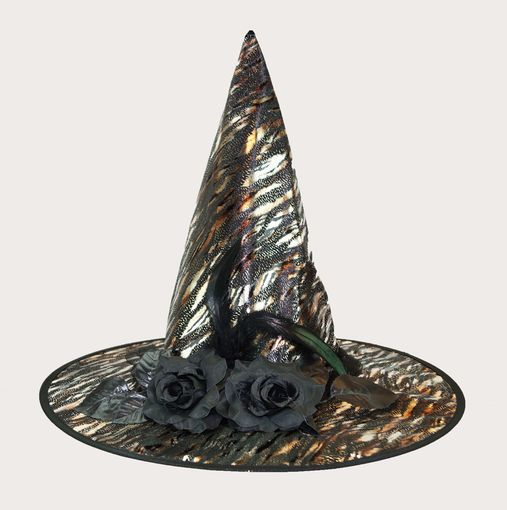 Tiger Print Witch Hat