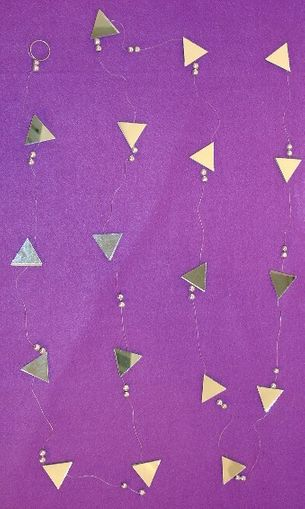 Triangle Mirror Garland Strand with Bead 9 ft.