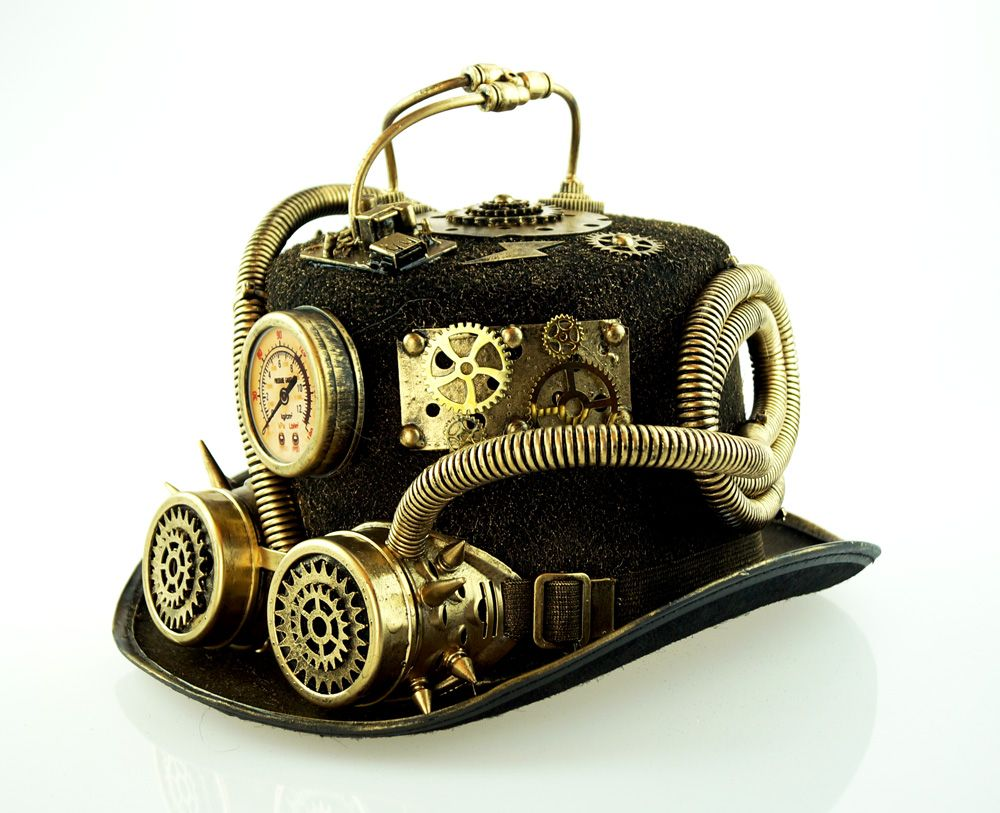 Tritor Steampunk Hat Gold