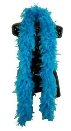 Turquoise Feather Boa 70 Gram
