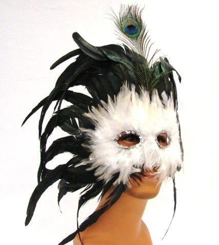 Ultimate Masquerade Feather Mask