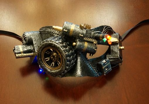 Ultra Lighted Steam Punk Mask Silver