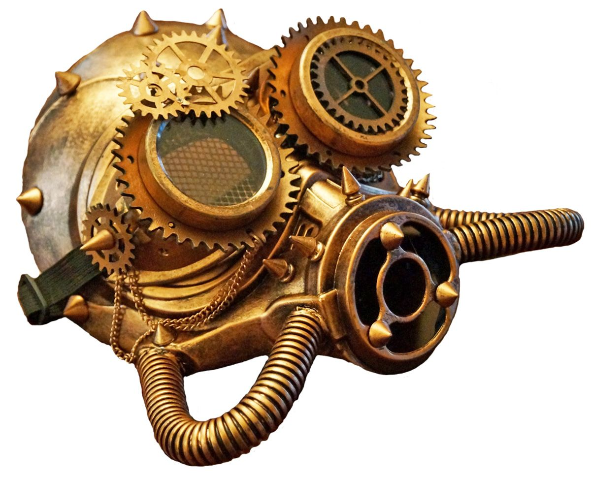 Steampunk Space Respirator Cyborg Gas Mask