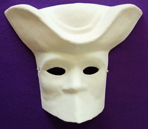 Unpainted Bauta with Hat Mask