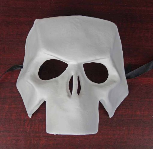 Unpainted Full Skull Mask