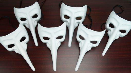 Unpainted Men's Bulk Masquerade Mask Set White