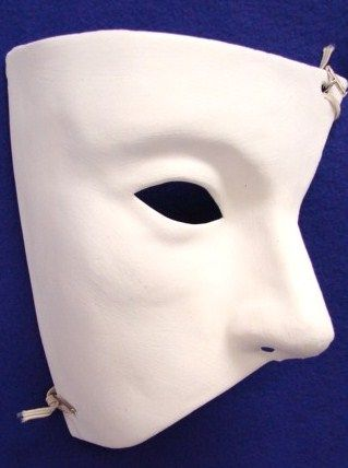 Unpainted Phantom of the Opera Mask