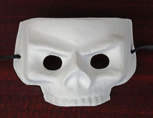 Unpainted Skull Eye Mask