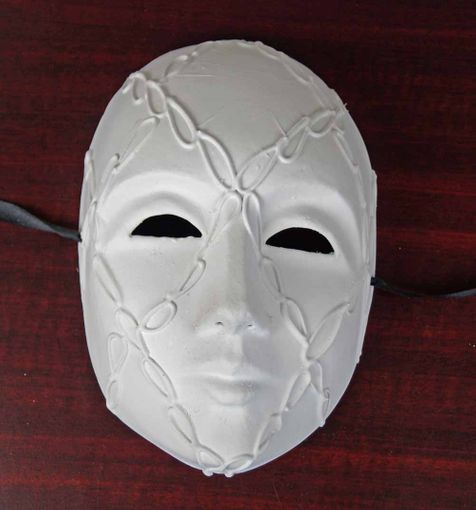 Unpainted Venetian Face Mask