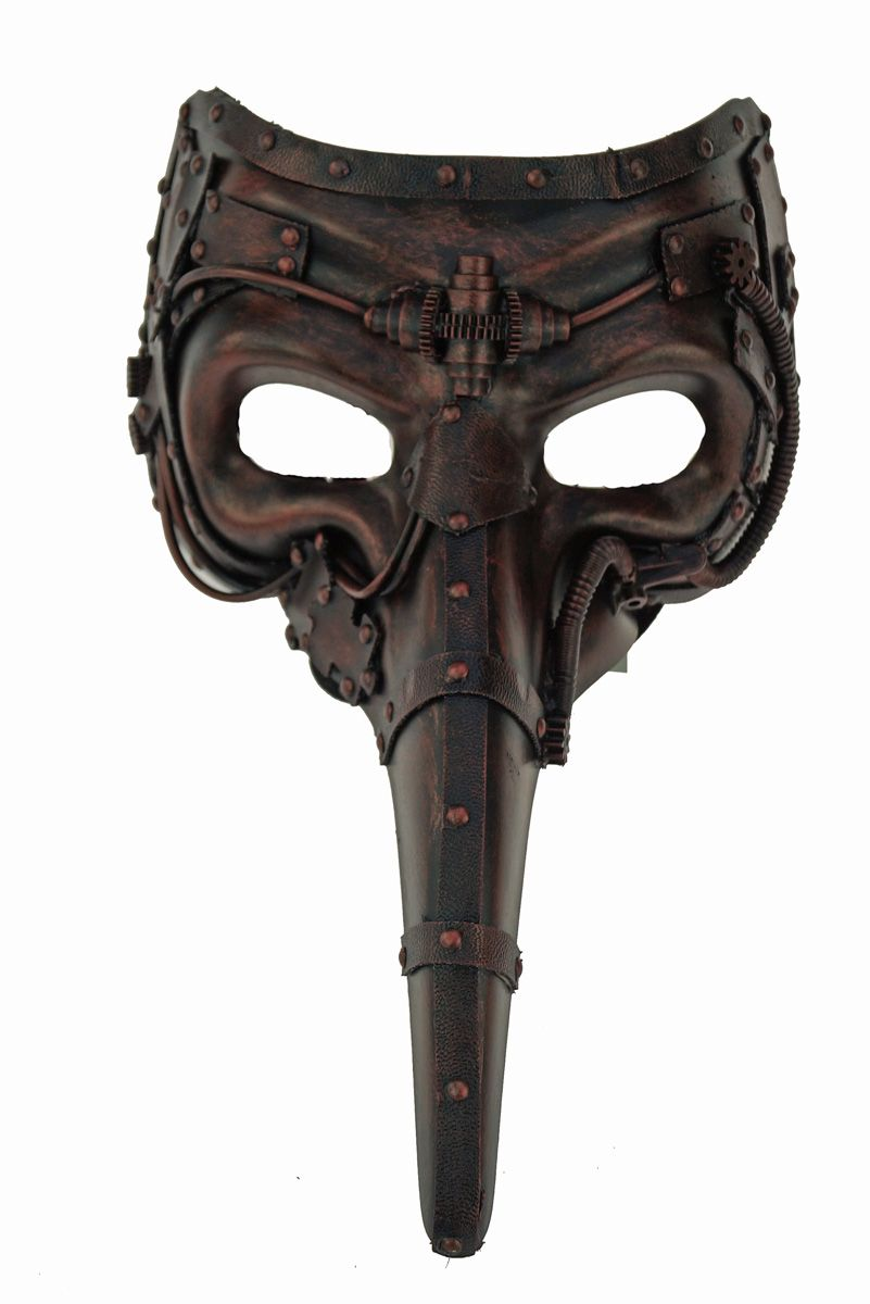 Men's Long Nose Mask Steampunk Style Bronze