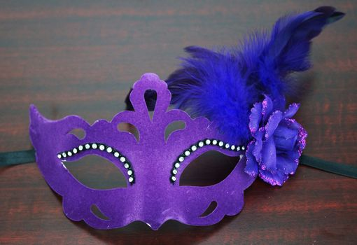 Velvet Venetian Eye Mask Purple