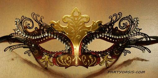 Venetian Luxury Masquerade Eye Mask Red
