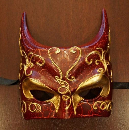 Venetian Devil Mask Red