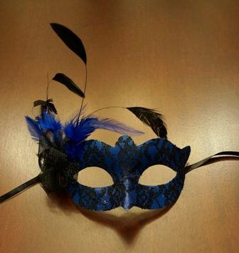 Venetian Feather Eye Mask