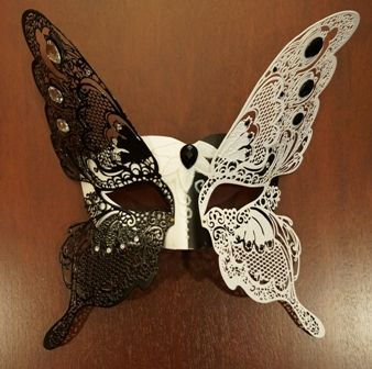 Venetian Lazer Cut Butterfly Masquerade Eye Mask