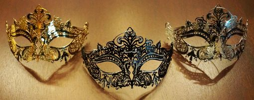 Venetian Lazer Cut Eye Mask Ornament Set Of Three