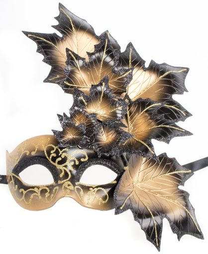 Venetian Leaf Mask Black