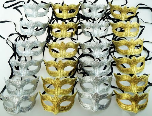 Venetian Mask Party Pack Silver And Gold