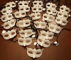 Unpainted Bulk Venetian Masquerade Masks Party Pack