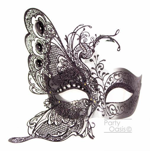 Venetian Metal Butterfly Masquerade Mask