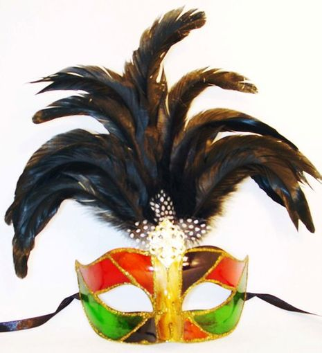 Venetian Princess Feather Eye Mask With Feathers