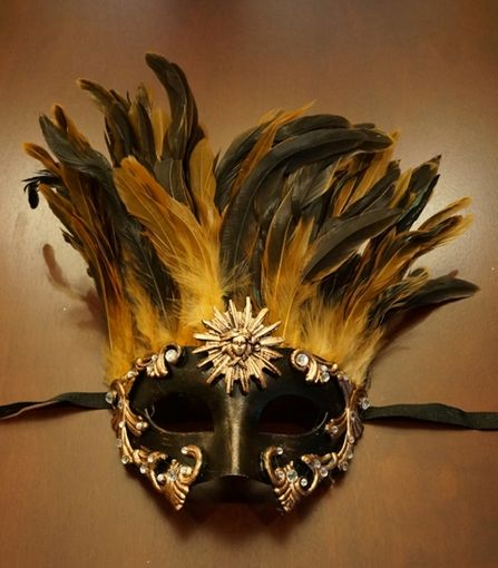 Venetian Warrior Mask with Feather