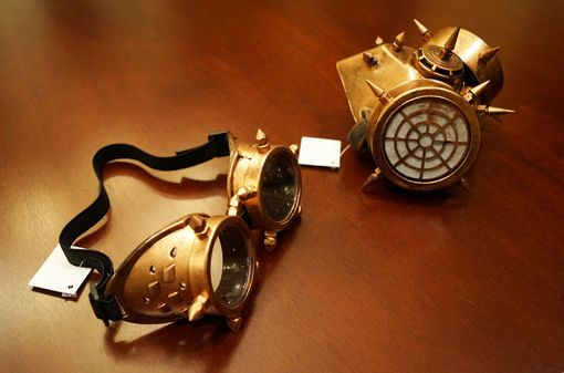 Ventron Gas Mask And Goggles Bronze