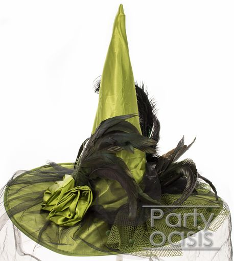Victorian Green Witch Hat