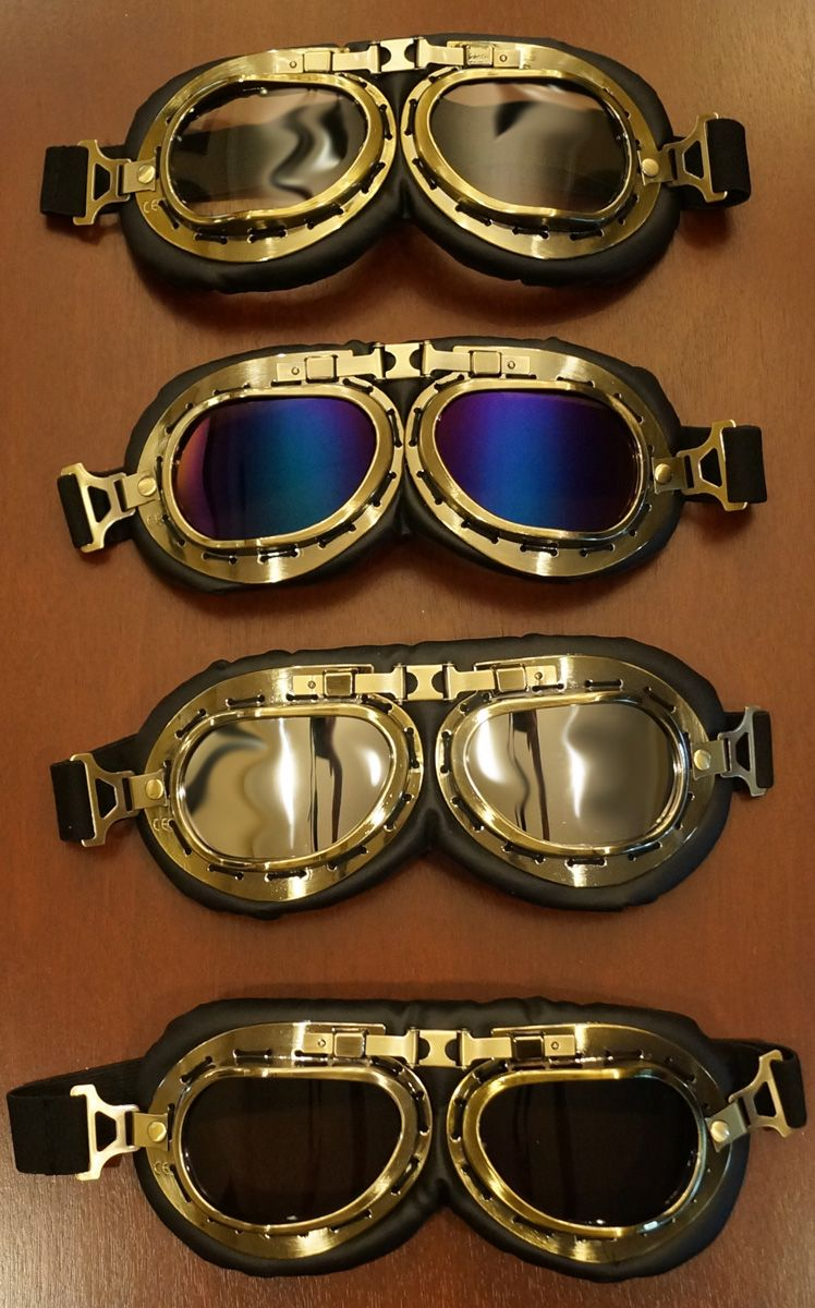New Helmet Steampunk Copper Motorcycle Aviator Goggles Vintage Style Pilot