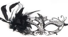 Women's Black Venetian Masquerade Party Mask