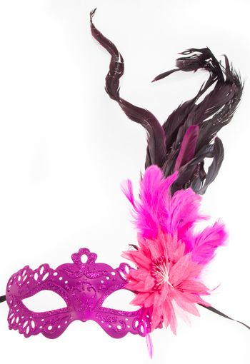 Colette Feather Mask Pink