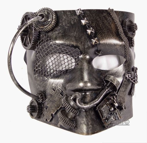 Wasteland Steam Punk Mask Silver