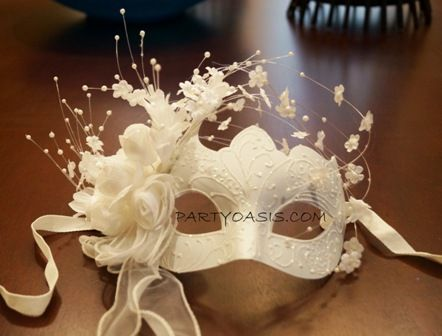 Beautiful Masquerade Wedding Mask For The Bride